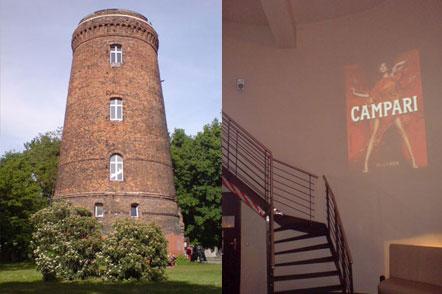 Wasserturm Bar in ehemaliger Funkstation in Hohenschönhausen